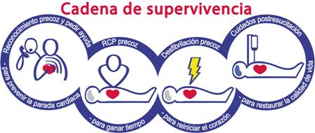 Cadena de supervivencia en RCP (Resucitación Cardiopulmonar)
