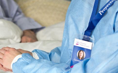 Servicios de enfermería a domicilio: identificación especialista en enfermería